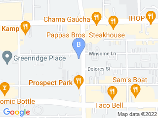 Map of A Dogs Dream Pet Salon in Houston Dog Boarding options in Houston | Boarding